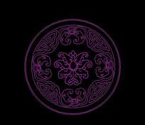 圆形浮雕莲花花纹
