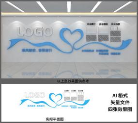公司企业扬帆起航照片风彩文化墙设计