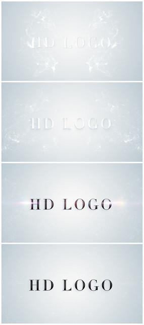 简洁干净白色logo视频模板