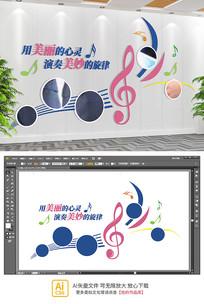音乐室培训室教室舞蹈室校园企业文化墙
