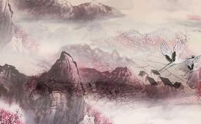 高端飞鹤山水背景墙