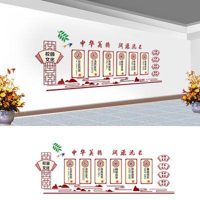 国学文化宣传文化墙设计