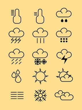 简约天气图标设计元素