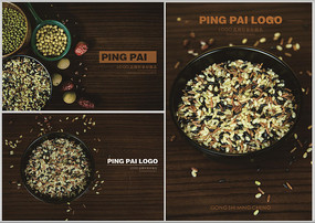 五谷杂粮创意摄影广告素材