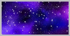 原创蓝色星空背景