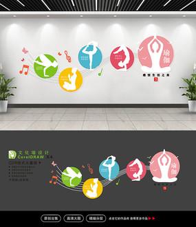 精美瑜伽健身文化墙