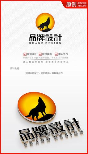 狼性圖騰logo商標志設計
