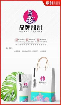 美人鱼美妆美体化妆品logo商标志