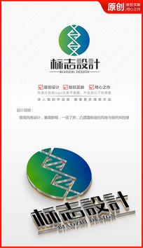 生物基因科技logo商标志设计