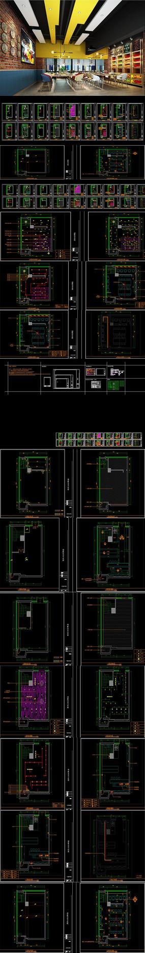 水果超市CAD施工图 效果图