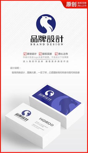 雄鹰欧式图腾logo商标志设计