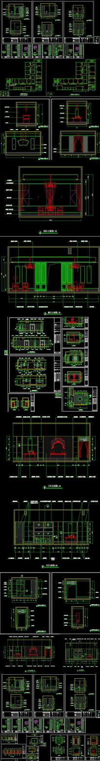 中式会所方案CAD施工图