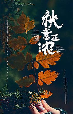 秋天宣傳海報設計