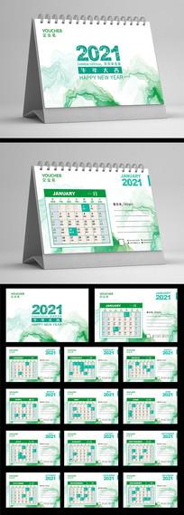 中国风水墨山水2020牛年台历设计