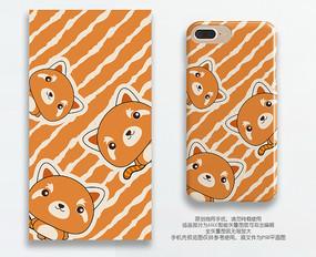 卡通动物小熊猫手机壳图案