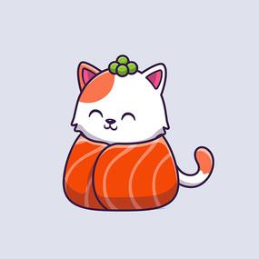 可爱原创卡通猫咪手绘素材