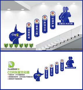公安警营楼梯文化墙