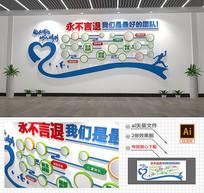 团队企业文化墙员工风采照片墙矢量模板