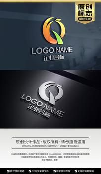 Q字母凤凰标志设计