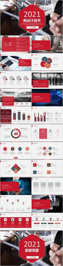 创业融资项目商业计划PPT模板
