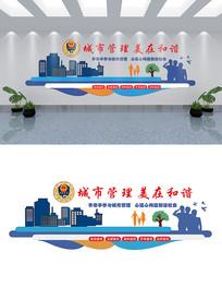 大气城管执法文化墙设计