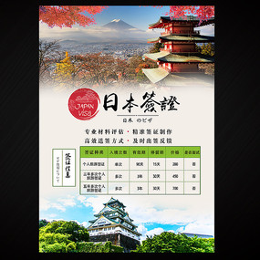 日本签证海报设计