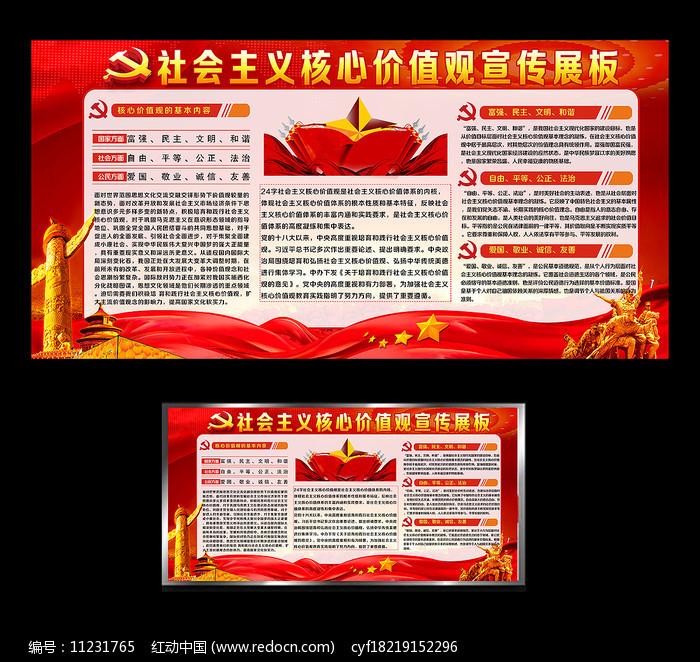 社会主义核心价值观党政展板图片