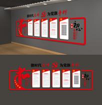 党员活动室党员权利义务党建文化墙