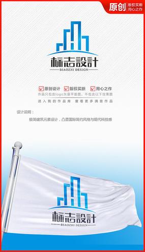 房地产建筑高楼建材logo商标志设计