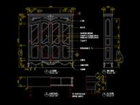美式装饰柜CAD书柜家具