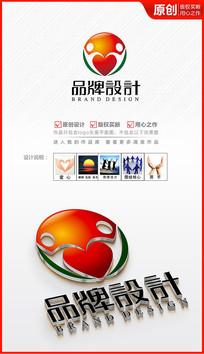爱心奉献保健康食品药店医药logo商标志