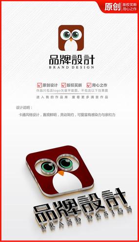 卡通UI在线网络教育APP商标logo
