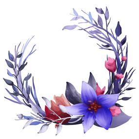 原创叶子深色花边框