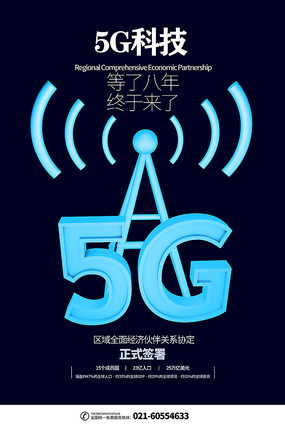 5G科技宣传海报