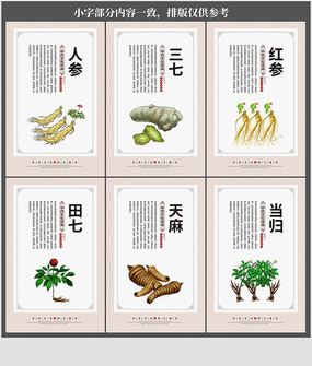 传统中医中药文化海报展板挂画设计