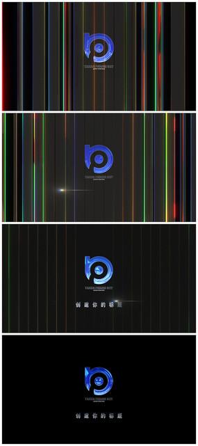 大气粒子光线标题片头视频模板