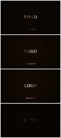 简约奢华金色logo视频模板