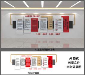 基层社区党建文化背景墙设计
