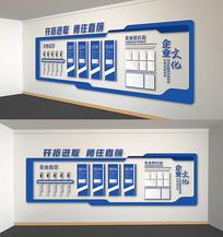 蓝色公司发展历程企业文化墙