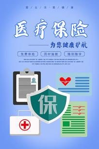 医疗保险促销海报