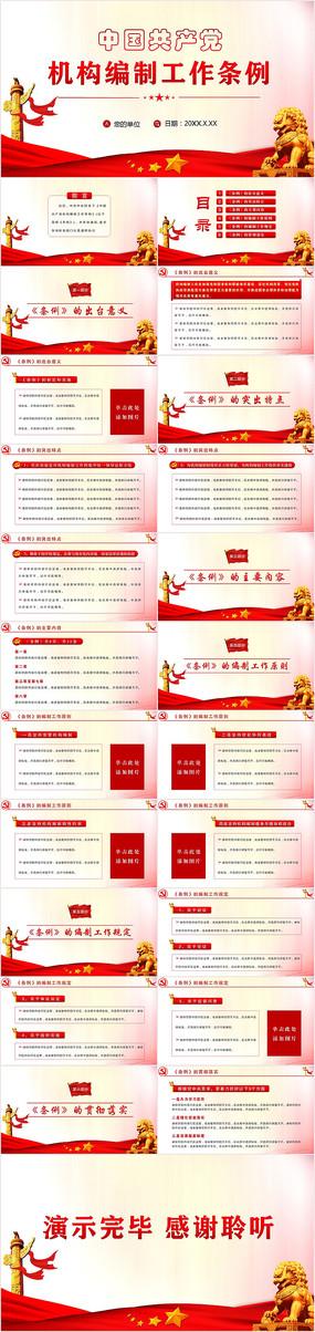 中国共产党机构编制工作条例PPT