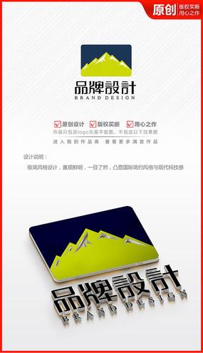 山峰山峦高山大山logo商标志设计