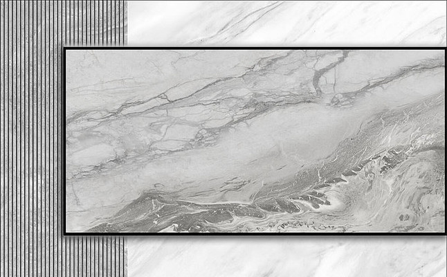 灰色悬空电视背景墙