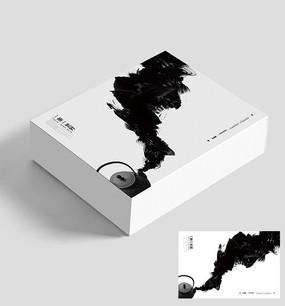 简约创意水墨风茶文化礼盒包装设计
