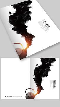 简约创意水墨风茶文化宣传画册封面