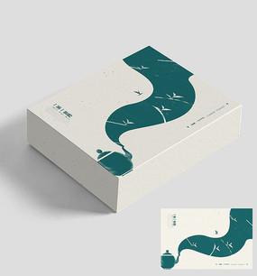 简约意境茶茶叶包装盒设计