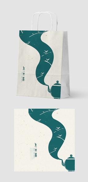 简约意境创意茶叶手提袋包装设计