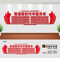 寄语新时代青年党建团建文化墙