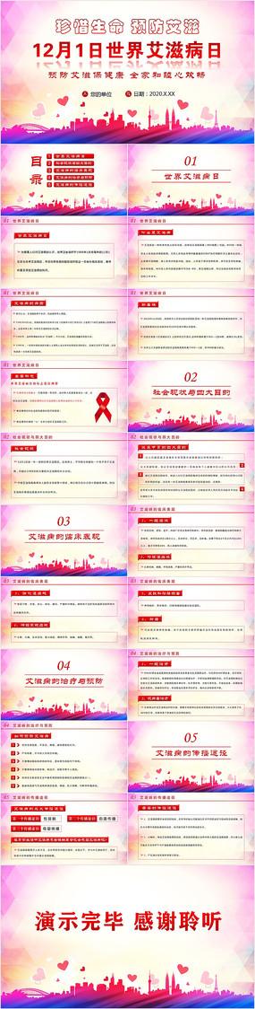 12月1日世界艾滋病日PPT