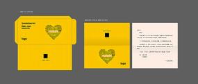 感恩节信封信纸设计